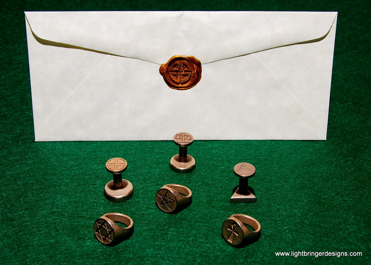 Wax Seals Signet Rings And Cufflinks Too