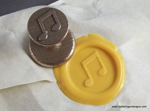 Music Notes Wax Seal